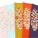 半衿 振袖 刺繍 矢羽根 梅 ピンク 水色 からし 橙 紫 半襟 成人式 フォーマル 日本製 シルエリー 矢羽根に梅 03501743 b981