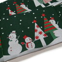 半幅帯 クリスマス トランプ リバーシブル おりびと 黒に近い深いカーキ色系 ライトグレー 臙脂 f583r