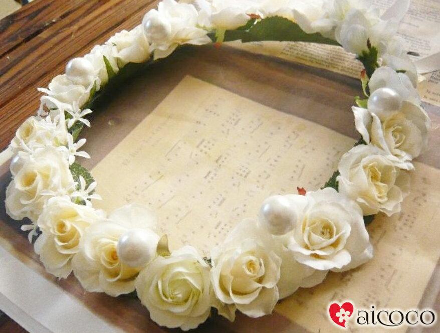【ヘッドドレス】プリザーブド&造花花冠 花かんむ...の商品画像