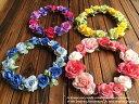 【ヘッドドレス】花冠 本格派!!20色こだわり選べる!!レインボー桜パンジー優しい色合い花かんむり 美人綺麗花冠!【ヘッドドレス 花かんむり】
