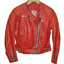 LEWIS LEATHERS GT Monza 70s VINTAGE LEATHER JACKET RED ルイスレザー GTモンザ レザージャケット ライダース 赤 革ジャン(皮ジャン)【中古】【パンク】【PUNK】【ロマンチックノイローゼ 楽天市場店】