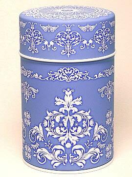 素敵な保存CAN(缶)ジャスパー ブルー