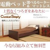 プラッツ ケアレットシンプリーフラット1モーター1+1モーター【BED ベッド ベット 介護ベット 介護用ベッド リクライニングベッド 電動ベット】