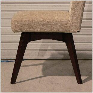 回転チェアー・北欧ナチュラルモダンスタイル・クッション性の高い回転椅子・カバーリング回転イス・木製脚オーク無垢材回転チェア