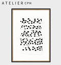 【クーポンx送料無料】 【 ATELIER CPH 】アトリエシーピーエイチ デンマーク コペンハーゲン circles no.17 17 モダン シンプル カフェ モノクロ ポスター アートプリント 70x50cm おしゃれ インテリア 北欧キャッシュレス5%還元