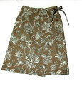 ボタニカル巻きスカート・コルク色巻きスカート(S)レディース巻きスカート