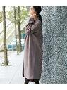 [Rakuten Fashion]オーバーチェスターコート ROPE' PICNIC ロペピクニック コート/ジャケット チェスターコート ブラウン ベージュ ネイビー【送料無料】