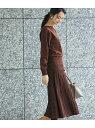[Rakuten Fashion]【SALE/50%OFF】ラメスカートニットワンピース ROPE' PICNIC ロペピクニック ワンピース ワンピースその他 ブラウン ブラック【RBA_E】