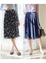 [Rakuten Fashion]【WEB限定】リバーシブルスカート ROPE' PICNIC ロペピクニック スカート スカートその他 ネイビー ベージュ【送料無料】