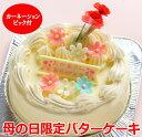 お届けは4/15日~母の日 バタークリーム ケーキ カーネーション付 5号 母の日 ケーキ ギフト バターケーキ