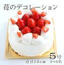 お届けは12/27日〜誕生日ケーキ バースデーケーキ 苺のデ...