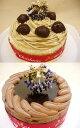 あなたの希望をかなえちゃうお得なクリスマスケーキセット♪モンブラン&ショコラ