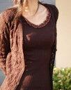 イタリア製 ウールシルクリブ丸編み 七分袖カットソー 668-04在庫M、LサイズARTIMAGLIA アルティマリアインナーウエア13000