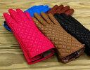 イタリア革手袋/グローブキルティングレザーグローブ <ウールライナー>DN-201106wDEMIデミレディース14900