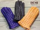 イタリア 革手袋 イントレチャートレザーグローブ DEMI デミ レディース