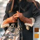 ラビットミックスファーミドルスリーラインデザインボタンウールライナーイタリア製革手袋/グローブ1204w LEPRE CIRO レプレシロ