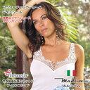 キャミソール イタリア製インナーフラワーチェッカーレースサイズM、LMADIVA マディバ giunone-ss
