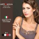 キャミソールイタリア製 シルクウールリブ編み クロスリボンARTIMAGLIA アルティマリア 31401-camisole脇に縫い目のないインナー9000