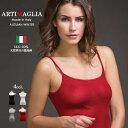 シルク100%リブキャミソールイタリア製インナーウエアARTIMAGLIA アルティマリア 90901-camisole脇に縫い目のないインナー12000