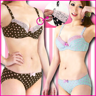Color limited Brown サックスマタニティ bra breast feeding & for & production after shorts set [dot] Maternity