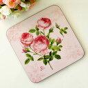 ピンクローズ鍋敷き・トリベット/メール便可 花柄 ピンク かわいい なべしき