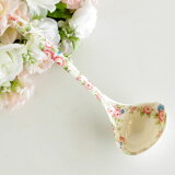 rozanarozu勺子(ladle)厨房杂货鲜花图案烹饪器具祝贺[ロザナローズおたま(レードル) キッチン雑貨 花柄 調理器具 お祝い]