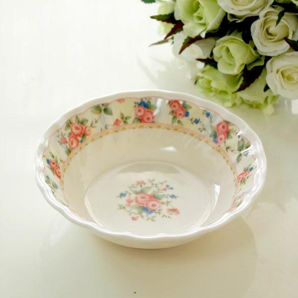 ボウル ロザナローズ 薔薇雑貨姫系雑貨 キッチン用品 食器 ローズ雑貨 花柄 お皿 メラミン 割れない