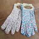 お花のガーデングローブ ショート丈 Mサイズ ガーデニング 手袋 グローブ