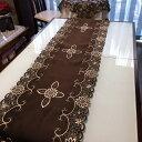 ブラウン≫カットワーク刺繍/テーブルランナー40X180cm   brown 新入荷