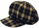 帽子・大きいサイズOK起毛チェック408キャスケット