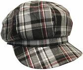 帽子・大きいサイズOKヘンプチェック408キャスケット