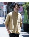 [Rakuten Fashion]【SALE/40%OFF】リネンライクヘンリーネックシャツ ROSSO アーバンリサーチロッソ シャツ/ブラウス シャツ/ブラウスその他 ベージュ ネイビー【RBA_E】【送料無料】
