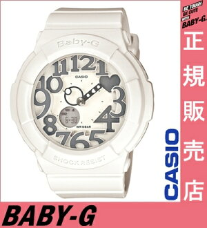 ★ reviews in Quo card 2千 Yen-★ Casio baby-g white BGA-134-7BJF casio baby-g ladies Casio watches ladies casio watch baby-g grey neon Dial Watch neon dial series