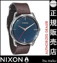 Point 10 times free shipping  [regular two years guarantee] Nixon Mellor A129879 Nixon watch Lady's watch NIXON clock NIXON MELLOR NAVY/BROWN Nixon watch men nixon watch