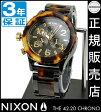 NIXONポータブルチェアプレゼント中★ ニクソン 腕時計 レビューで8000円クーポン(次回)★ 送料無料 [正規3年保証] A037679 ニクソン 42-20 CHRONO ニクソン 腕時計 レディース 腕時計 NIXON 時計 NIXON クロノ クロノグラフ TORTOISE べっこう べっ甲 ベッコウ 防水 メンズ