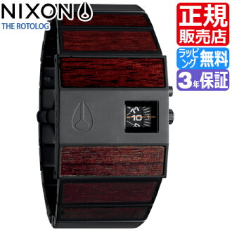 NIXON WATCH NA0281107-00 Rotolog DARK WOOD/BLACK