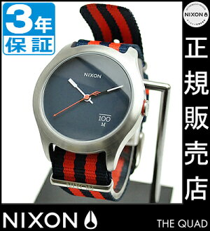 NIXON WATCH NA3441152 QUAD NAVY/RED