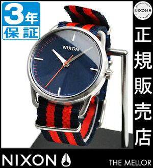 NIXON WATCH NA1291152-00 MELLOR NAVY/RED