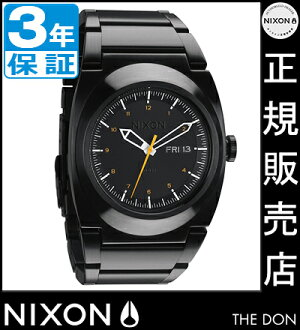 NIXON WATCH NA358577-00 DON II ALL BLACK/ORANGE