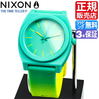 NIXON WATCH NA1191385-00 TIME TELLER P YELLOW/TEAL FADE