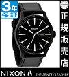ニクソン 腕時計 レビューで2500円クーポン(次回)★ 送料無料 [正規3年保証] NA105005 ニクソン セントリー レザー ニクソン 腕時計 メンズ 腕時計 NIXON 時計 NIXON SENTRY LEATHER BLACK/WHITE ニクソン 時計 nixon 時計 10P26Mar16