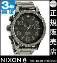 ニクソン 腕時計 レビューで10%OFFクーポン(次回)★ 送料無料 [正規3年保証] NA4861885 ニクソン 48-20 クロノ ニクソン 腕時計 レディース 腕時計 NIXON 時計 NIXON 48-20 CHRONO POLISHED GUNMETAL/LUM クロノグラフ 腕時計 防水 nixon 腕時計 ニクソン 腕時計 メンズ