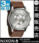 ニクソン 腕時計 レビューで4000円クーポン(次回)★ 送料無料 [正規3年保証] NA4051888 ニクソン セントリー クロノ レザー ニクソン 腕時計 メンズ 腕時計 クロノグラフ NIXON 時計 NIXON SENTRY CHRONO LEATHER SADDLE GATOR ニクソン 時計 nixon 時計