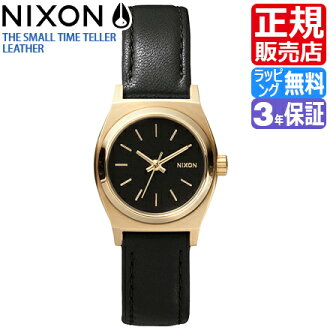 Review coupon Yen-present during ★ [regular 2 years warranty] NA509010 Nixon small time teller p leather Nixon watches ladies watches NIXON watch NIXON SMALL TIME TELLER LEATHER BLACK/GOLD Nixon ladies nixon watch 10P01Mar15.