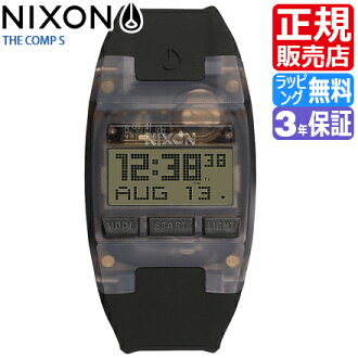 Review coupon Yen-present during ★ [regular 2 years warranty] NA336001 Nixon comp S Nixon watches ladies NIXON watch NIXON COMP S ALL BLACK Nixon watch men's nixon comp S watch skeleton watch light watches