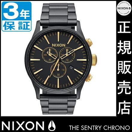 ニクソン 腕時計 レビューで10%OFFクーポン(次回)★ 送料無料 [正規3年保証] NA3861041 ニクソン セントリー クロノ ニクソン 腕時計 メンズ 腕時計 NIXON 時計 NIXON SENTRY CHRONO MATTE BLACK/GOLD ニクソン 時計 nixon 時計 ニクソン セントリー クロノ ニクソン 腕時計 メンズ 腕時計 NIXON 時計 NIXON SENTRY CHRONO 腕時計 NIXON 腕時計 ニクソン nixon 時計
