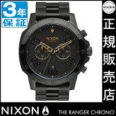 NIXONポータブルチェアプレゼント中★ ニクソン 腕時計 レビューで8000円クーポン(次回)★ 送料無料 [正規3年保証] NA549010 ニクソン レンジャー クロノ ニクソン 腕時計 メンズ 腕時計 NIXON 時計 NIXON RANGER CHRONO BLACK/GOLD クロノグラフ 腕時計