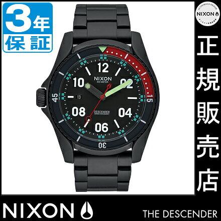 NIXONポータブルチェアプレゼント中★ ニクソン 腕時計 NA9591320 レビューで10%OFFクーポン(次回)★ 送料無料 [正規3年保証] ニクソン ディセンダー ニクソン 腕時計 メンズ 腕時計 NIXON 時計 NIXON DESCENDER ALL BLACK/MULTI 腕時計 nixon 腕時計 防水 ニクソン ディセンダー ニクソン 腕時計 メンズ 腕時計 NIXON 時計 NIXON DESCENDER ニクソン 時計 nixon 時計 nixon 腕時計 防水