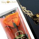 メッセージローズ プリザーブドフラワー オレンジのバラ 1輪 誕生日プレゼント プロポーズ 記念日 薔薇の贈り物