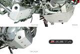 【ZETA】 EDスキッドプレート KLX125, D-TRACKER125 10-11